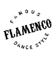 Famous dance style flamenco stamp