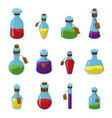 flasks with liquid flat set