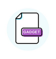 gadget file format extension color line icon vector image