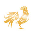 golden rooster for chinese new year celebration vector image vector image