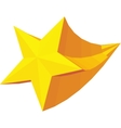 Golden star award icon isometric 3d style vector image vector image