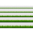 green grass border collection isolated vector image vector image