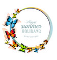 happy summer holiday background with colorful vector image
