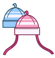 hats for small boys and girls children clothes vector image vector image