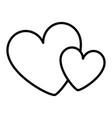 hearts love decoration romance image vector image