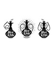 hookah club logo or label nargile icon lettering vector image vector image