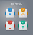 icon shopping set of gift carton shop and other vector image