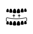 implanted teeth icon black vector image vector image