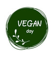 international day for vegetarians nov 1 vegan day vector image