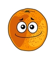 Juicy ripe cartoon orange with a cheeky grin vector image
