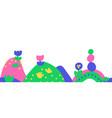kids drawing border seamless border vector image