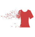 lady t-shirt shredded pixel icon vector image