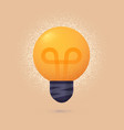 light bulb isolated design element vector image