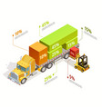 logistic infographic isometric template vector image vector image