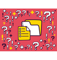 many questions and exclamation marks arou vector image