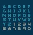 Maze tech letters linear style font Construction vector image