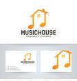 music house logo design vector image vector image