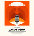 music modern retro vintage abstract poster vector image