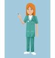 nurse uniform stethoscope syringe blood vector image