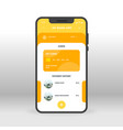 orange and yellow online banking ui ux gui screen vector image vector image