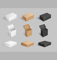 packages and carton boxes transparent set vector image vector image