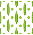 pattern with peas vector image vector image