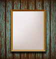 picture frame hanging on old wooden wall vector image vector image