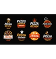 Pizza logo label element Pizzeria restaurant vector image vector image