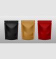 plastic sachet pouch coffee zip package golden vector image vector image