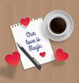quote romantic date vector image