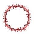 red christmas flower wreath and berries on vector image vector image