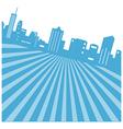 Retro Cityscape Background vector image vector image