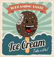 Retro ice cream poster vector image vector image