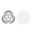 rose grey set icon vector image