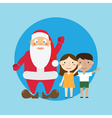 Santa and children vector image