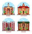 School and university academy college buildings vector image