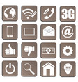 set pieces of plane icons relating to technology vector image vector image