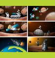 set space scene vector image vector image