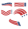 set usa flags vector image vector image