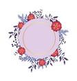 spring floral frame vector image vector image