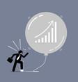 stock market bubble artwork depicts a happy vector image vector image
