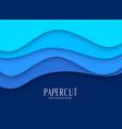 stylish blue papercut background design vector image