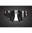 suit group vector image vector image