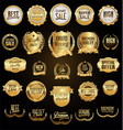 super collection of golden retro vintage badges vector image