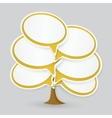 Talking cloud tree vector image vector image