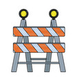 under construction barrier icon graphic design vector image