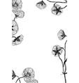 vintage botanical flower frame vector image vector image