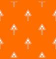warning road sign pattern seamless vector image vector image