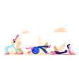 workout girl athletic women doing gymnastic vector image vector image