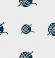 Yarn ball icon sign Seamless pattern with vector image vector image